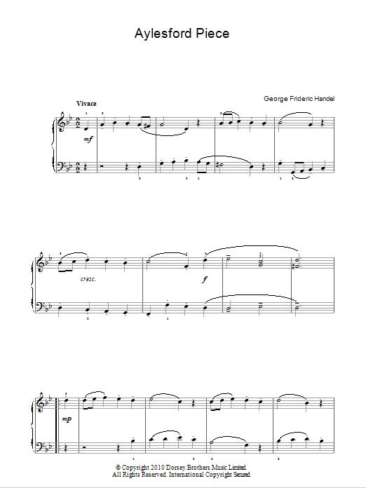 Aylesford Piece Sheet Music
