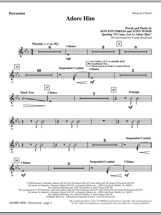 Adore Him - Percussion (Choir Instrumental Pak)