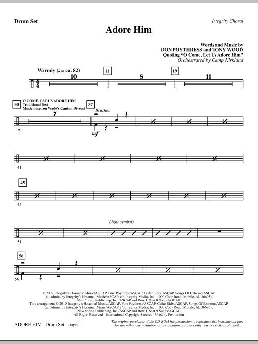 Adore Him - Drum Set (Choir Instrumental Pak)