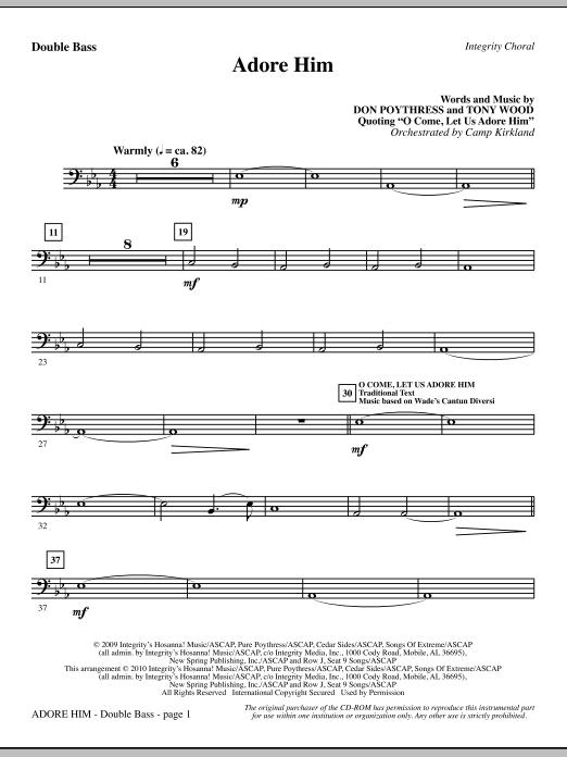 Adore Him - Double Bass (Choir Instrumental Pak)