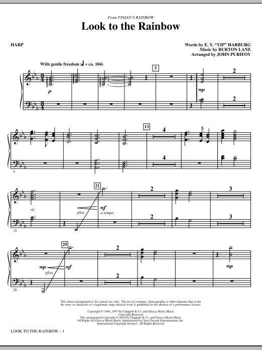 Look To The Rainbow (from Finian's Rainbow) - Harp (Choir Instrumental Pak)