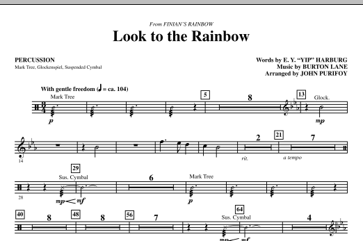 Look To The Rainbow (from Finian's Rainbow) - Percussion (Choir Instrumental Pak)