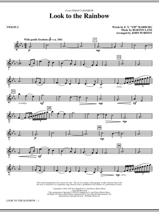 Look To The Rainbow (from Finian's Rainbow) - Violin 2 (Choir Instrumental Pak)