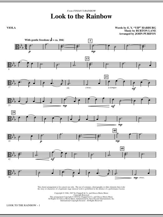 Look To The Rainbow (from Finian's Rainbow) - Viola (Choir Instrumental Pak)