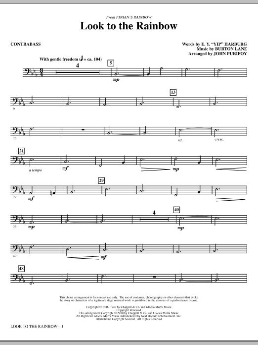 Look To The Rainbow (from Finian's Rainbow) - Contrabass (Choir Instrumental Pak)