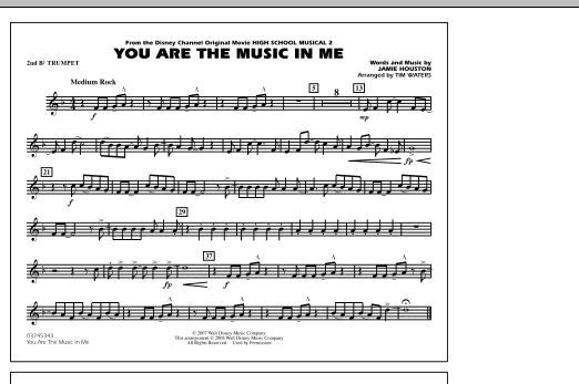 You Are the Music In Me (from High School Musical 2) - 2nd Bb Trumpet (Marching Band)