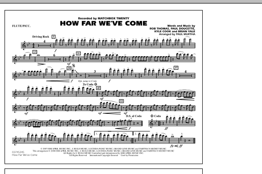 How Far We've Come - Flute/Piccolo (Marching Band)