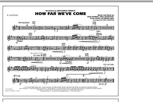 How Far We've Come - Eb Alto Sax (Marching Band)