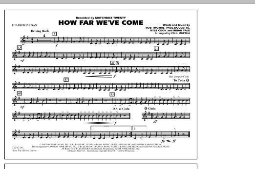How Far We've Come - Eb Baritone Sax (Marching Band)
