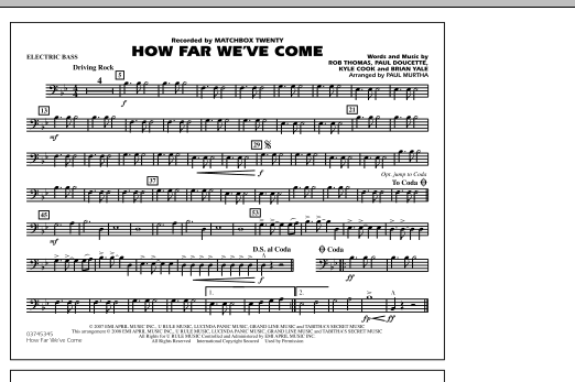 How Far We've Come - Electric Bass (Marching Band)