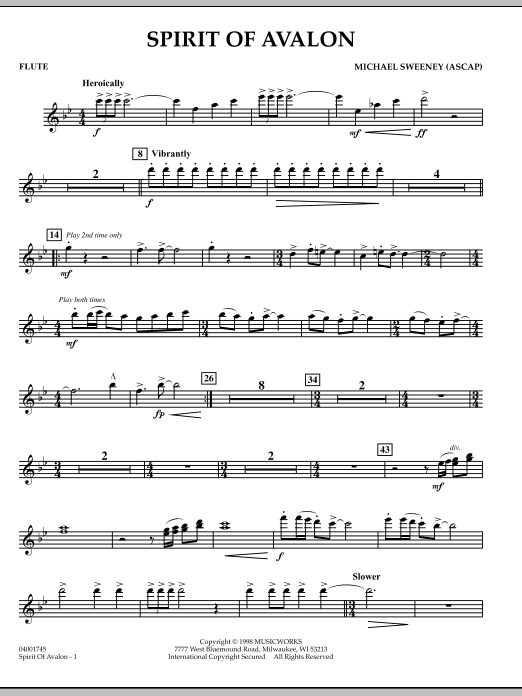 Spirit Of Avalon - Flute (Concert Band)
