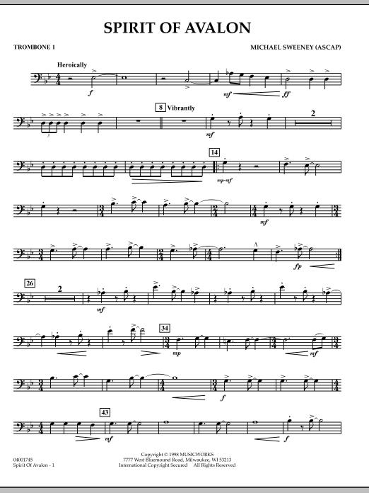 Spirit Of Avalon - Trombone 1 (Concert Band)