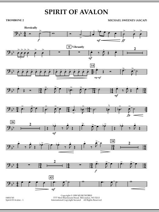 Spirit Of Avalon - Trombone 2 (Concert Band)