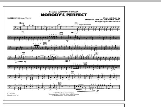 Nobody's Perfect - Baritone B.C. (Opt. Tbn. 2) (Marching Band)