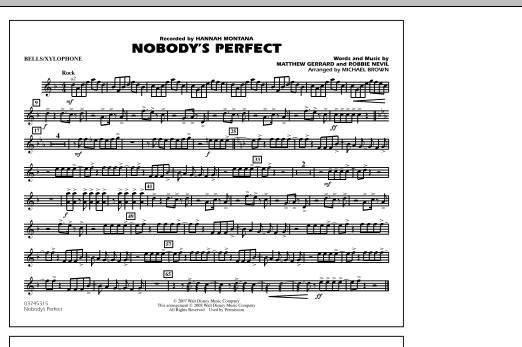 Nobody's Perfect - Bells/Xylophone (Marching Band)