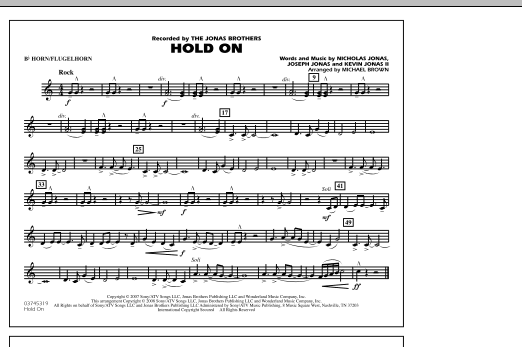 Hold On - Bb Horn/Flugelhorn (Marching Band)