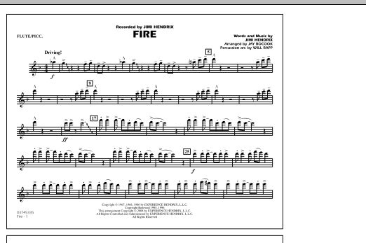 Fire - Flute/Piccolo (Marching Band)