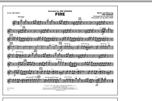 Fire - 1st Bb Trumpet (Marching Band)
