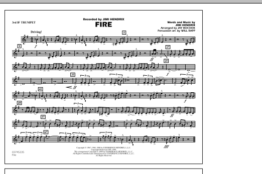 Fire - 3rd Bb Trumpet (Marching Band)