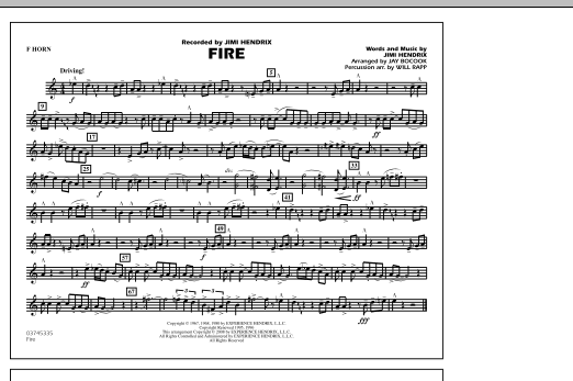 Fire - F Horn (Marching Band)