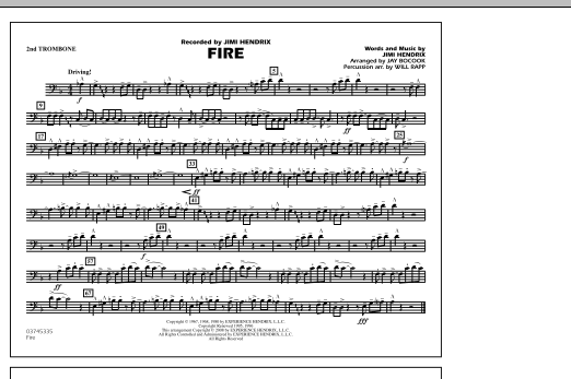 Fire - 2nd Trombone (Marching Band)