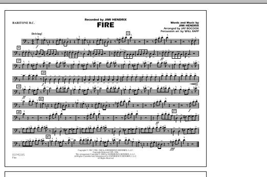 Fire - Baritone B.C. (Marching Band)