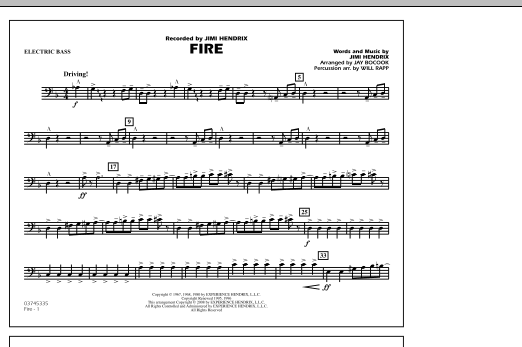 Fire - Electric Bass (Marching Band)
