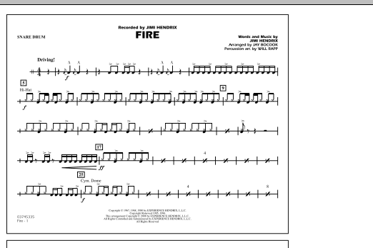 Fire - Snare Drum (Marching Band)