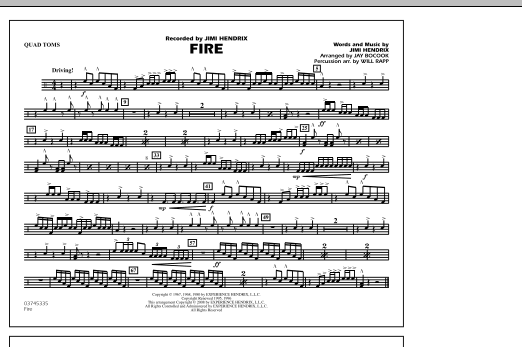 Fire - Quad Toms (Marching Band)