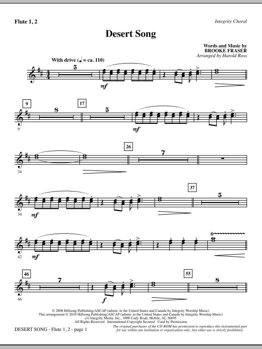 Desert Song - Flute 1 & 2 (Choir Instrumental Pak)