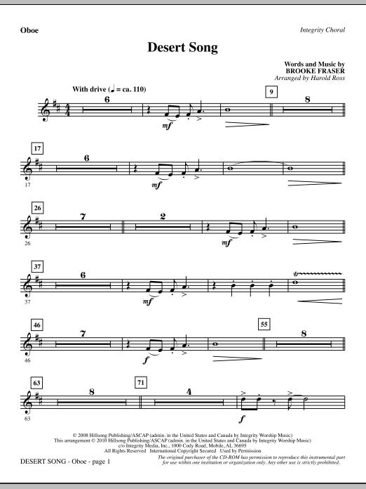 Desert Song - Oboe (Choir Instrumental Pak)