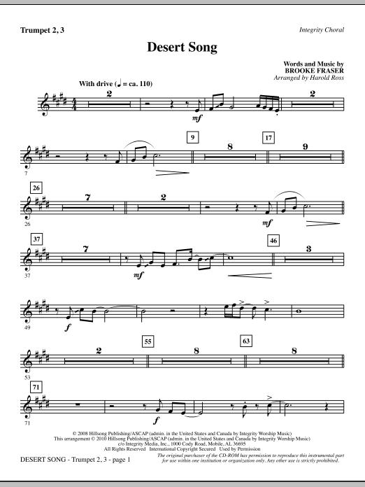 Desert Song - Trumpet 2 & 3 (Choir Instrumental Pak)