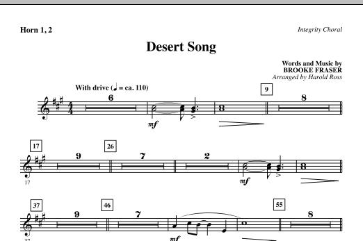Desert Song - F Horn 1,2 Sheet Music