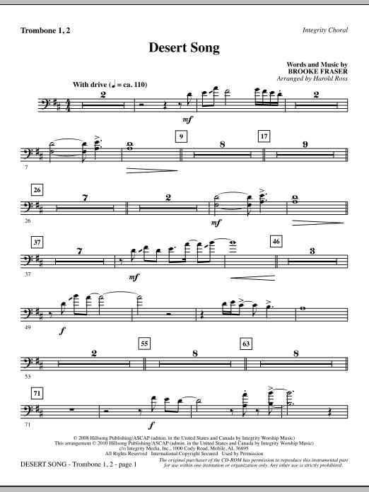 Desert Song - Trombone 1 & 2 Sheet Music