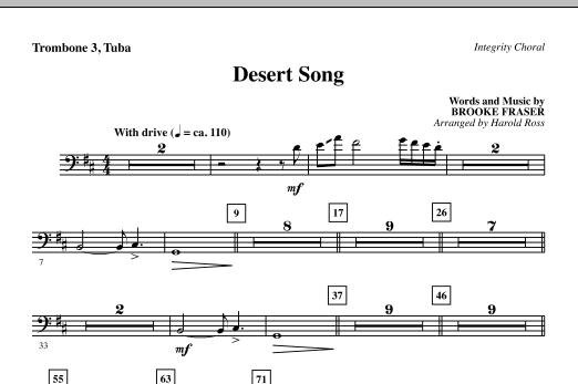 Desert Song - Trombone 3/Tuba (Choir Instrumental Pak)