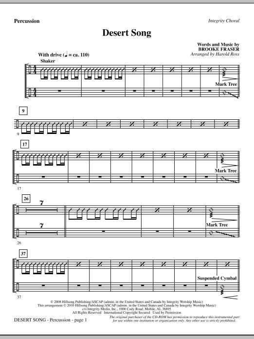 Desert Song - Percussion Sheet Music