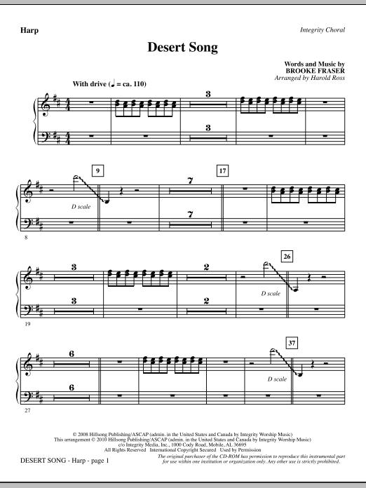 Desert Song - Harp (Choir Instrumental Pak)