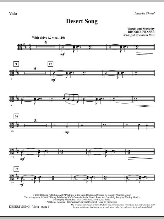 Desert Song - Viola (Choir Instrumental Pak)