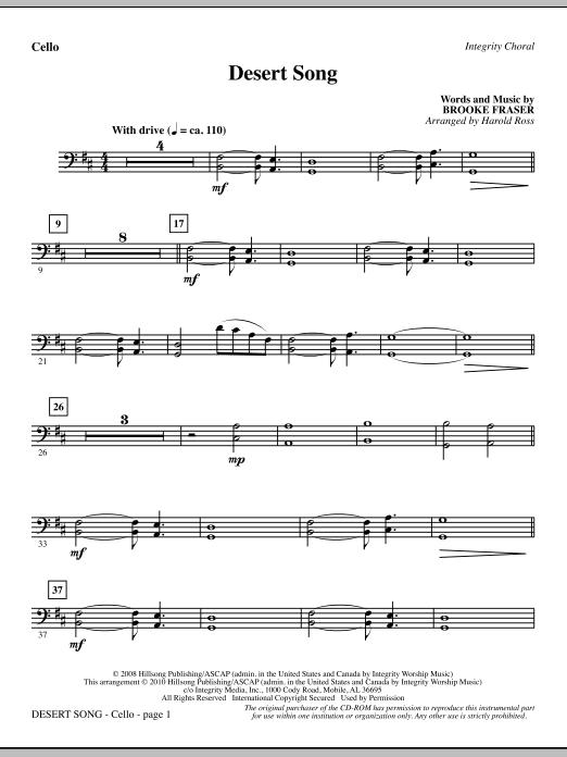 Desert Song - Cello Sheet Music