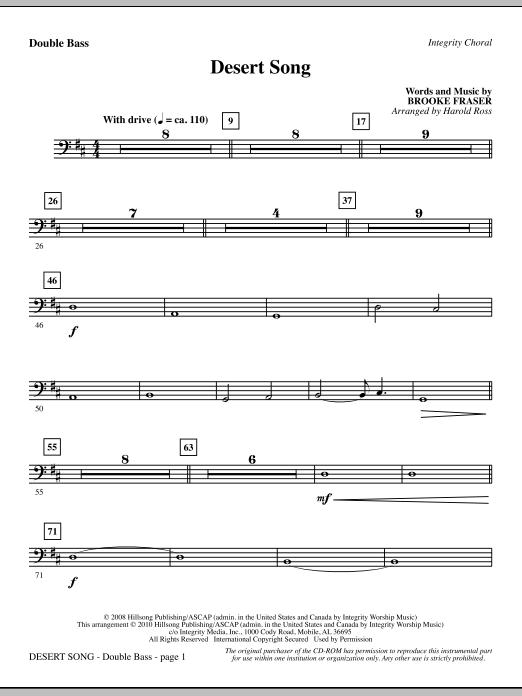 Desert Song - Double Bass Sheet Music