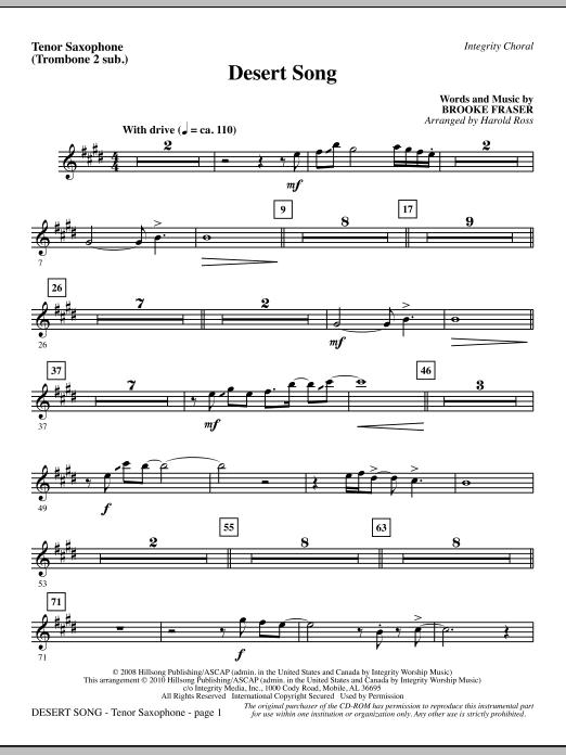Desert Song - Tenor Sax (Trombone 2 sub.) Sheet Music