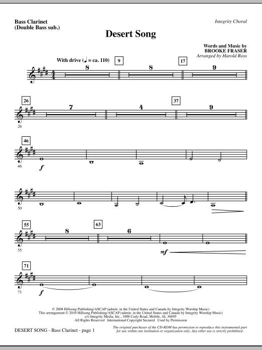 Desert Song - Bass Clar. (Double Bass sub.) Sheet Music