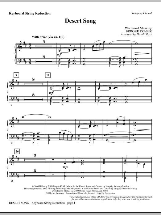 Desert Song - Keyboard String Reduction (Choir Instrumental Pak)