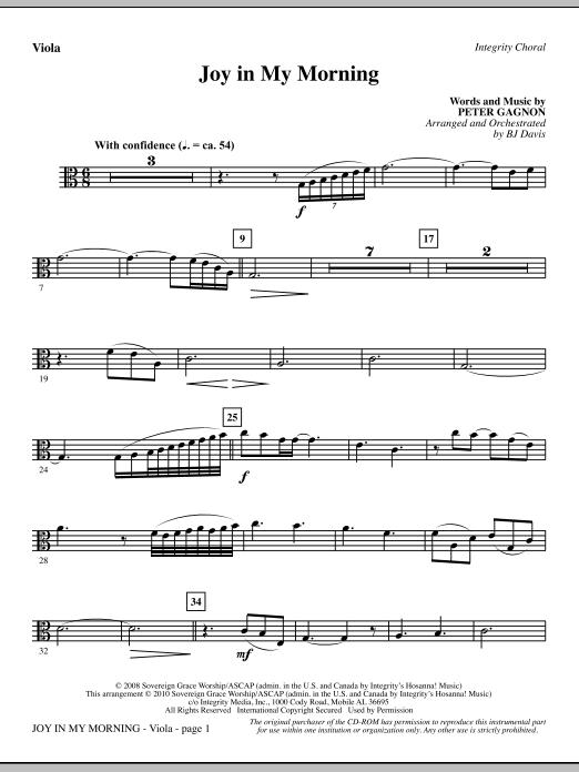Joy In My Morning - Viola Sheet Music