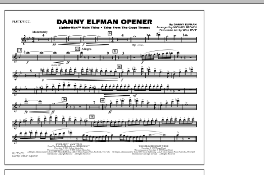 Danny Elfman Opener - Flute/Piccolo (Marching Band)