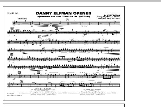 Danny Elfman Opener - Eb Alto Sax (Marching Band)