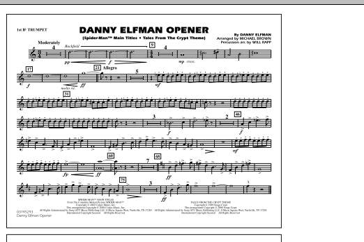 Danny Elfman Opener - 1st Bb Trumpet (Marching Band)