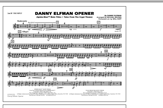 Danny Elfman Opener - 2nd Bb Trumpet (Marching Band)