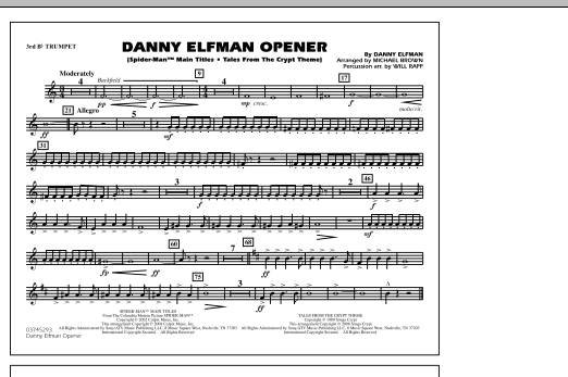 Danny Elfman Opener - 3rd Bb Trumpet (Marching Band)