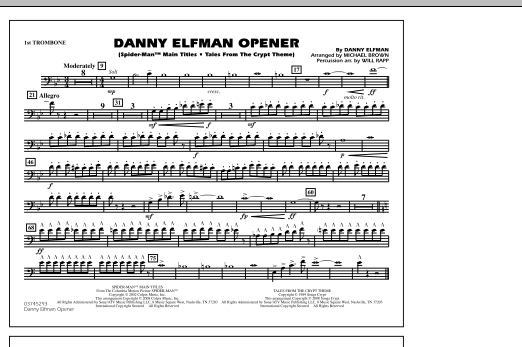 Danny Elfman Opener - 1st Trombone (Marching Band)